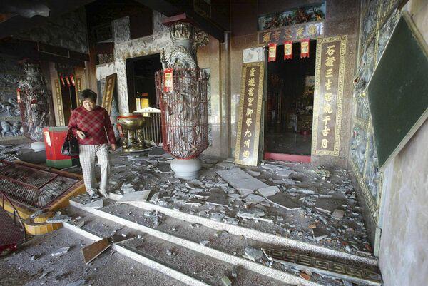 Последствия землетрясения на Тайване