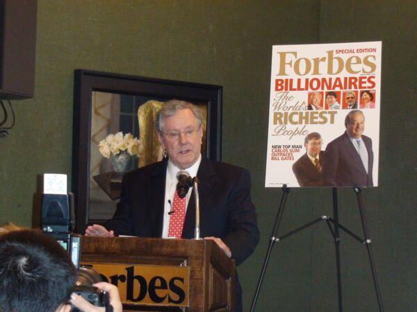 Главный редактор журнала Forbes Стив Форбс.