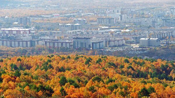 Вид города Южно-Сахалинска
