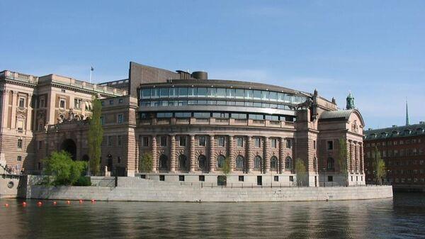 Здание риксдага в Стокгольме. Архивное фото