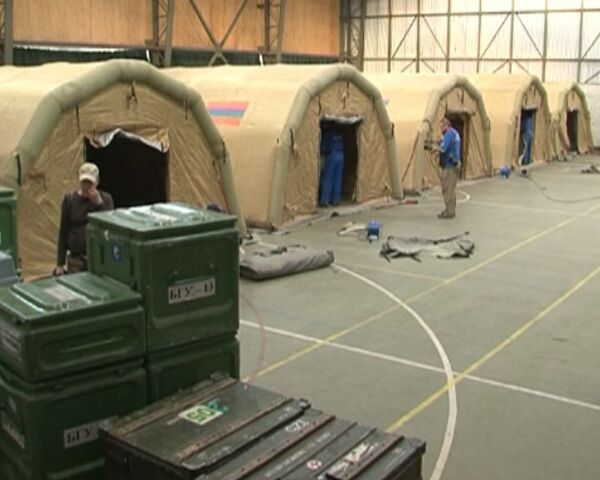 Российские спасатели в Чили развернули надувной госпиталь за 4 часа