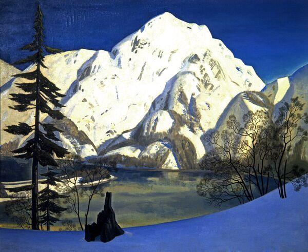 Картина Рокуэлла Кента Вид с Лисьего острова. Аляска