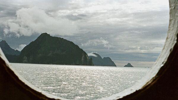 Вид на Аляску из корабельного окна