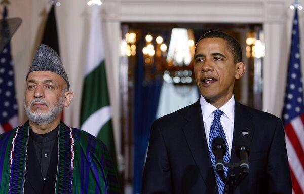 Барак Обама и президент Афганистана Хамид Карзай