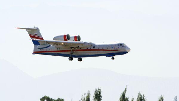 Российский самолет–амфибия Бе-200. Архив
