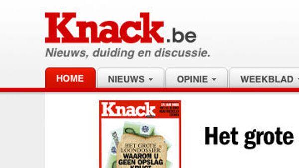 Принтскрин страницы сайта knack.rnews.be