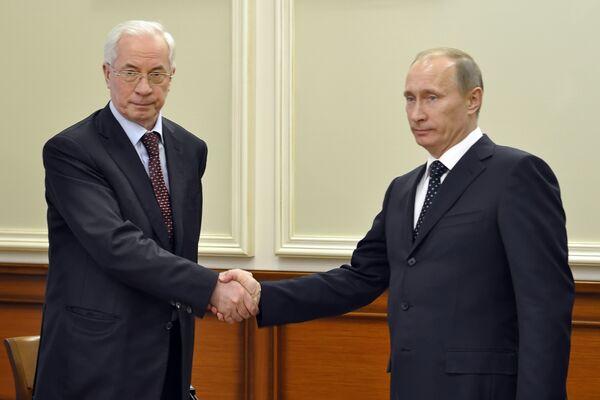 Встреча премьер-министров России и Украины. Архив
