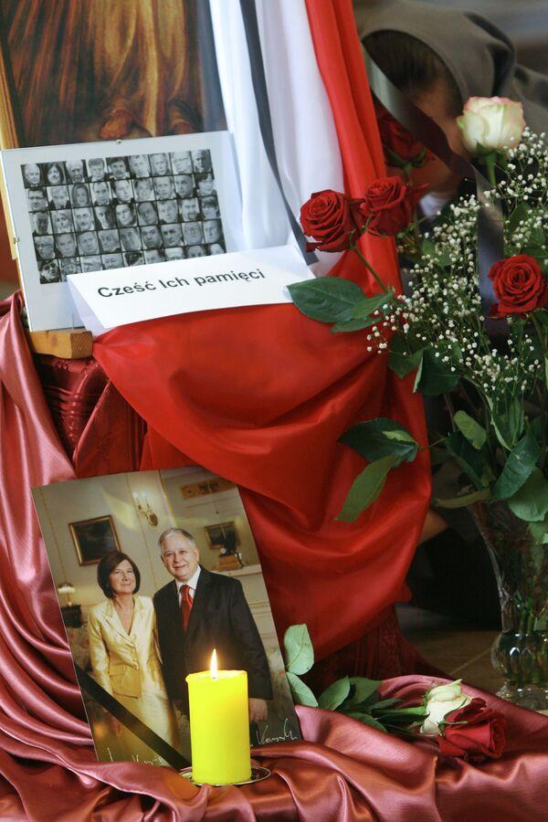Поминальная месса по жертвам авиакатастрофы под Смоленском в Москве