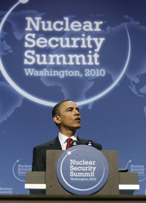Барак Обама на саммите по вопросам ядерной безопасности в Вашингтоне