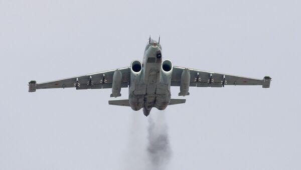 Штурмовик (ударный самолет) Су-25СМ. Архивное фото