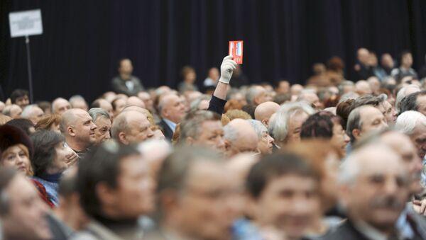 Съезд союза кинематографистов России