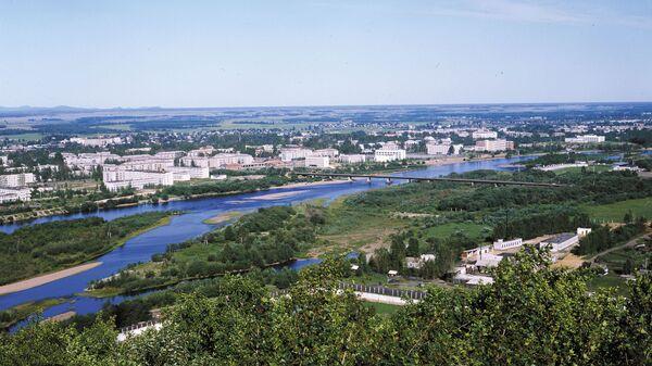 Вид на город Биробиджан, столицу Еврейской автономной области. Архивное фото