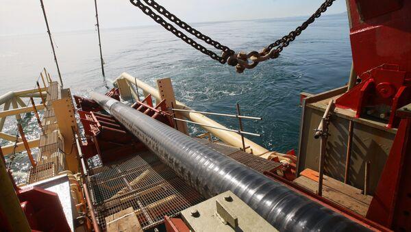 Строительство морского участка газопровода. Архивное фото