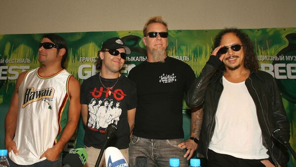 Участники рок-группы Металлика