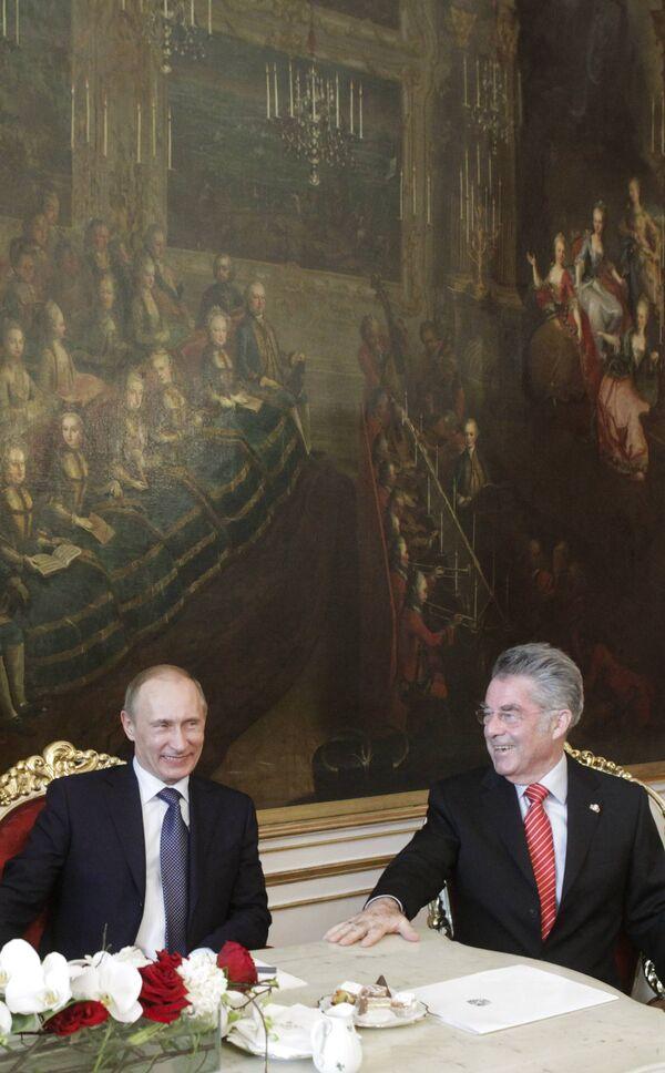 Путин встретился с президентом Австрии Хайнцем Фишером