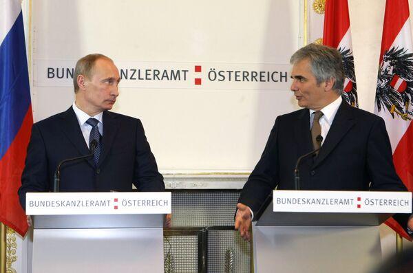 Пресс-конференция по итогам российско-австрийских переговоров