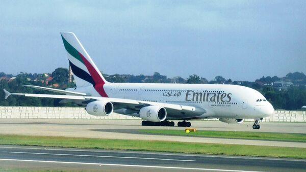 Самолет авиакомпании Emirates Airlines. Архивное фото