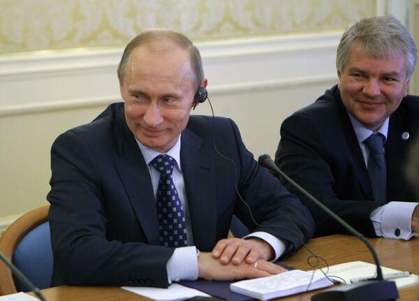Визит премьер-министра РФ Владимира Путина в Милан