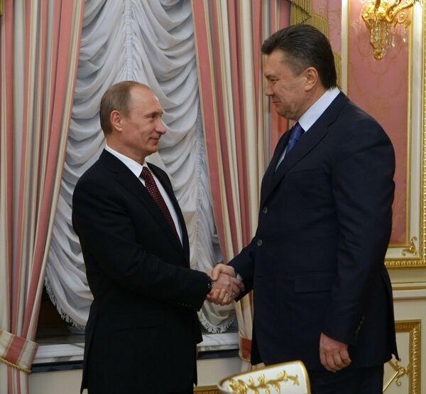 Встреча премьер-министра России с президентом Украины. Архив