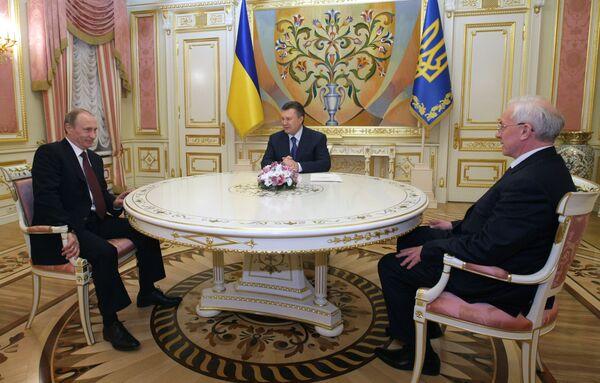 Встреча премьер-министра России с президентом Украины