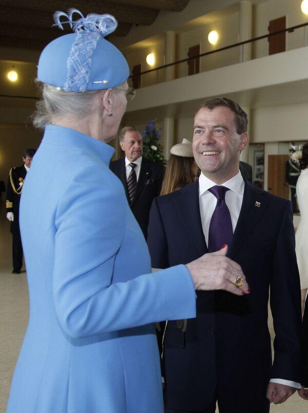 Президент РФ Дмитрий Медведев прибыл в Копенгаген