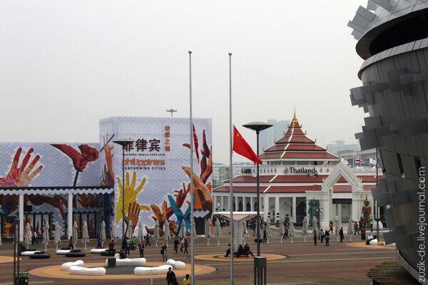 Павильоны разных стран на выставке ЭКСПО в Шанхае. Архив
