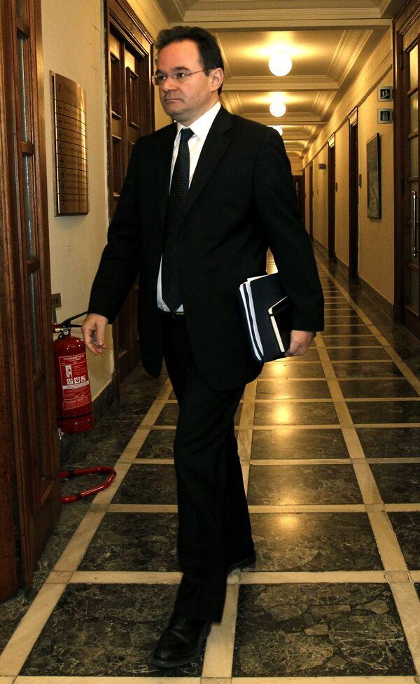 Министр финансов Греции Йоргос Папаконстантину
