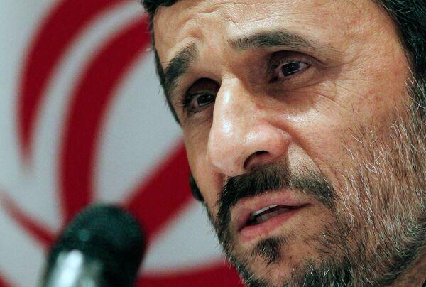 Пресс-конференция президента Ирана Махмуда Ахмадинежада