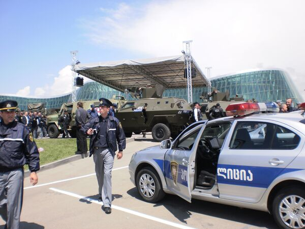 Парад по случаю Дня полиции в Тбилиси