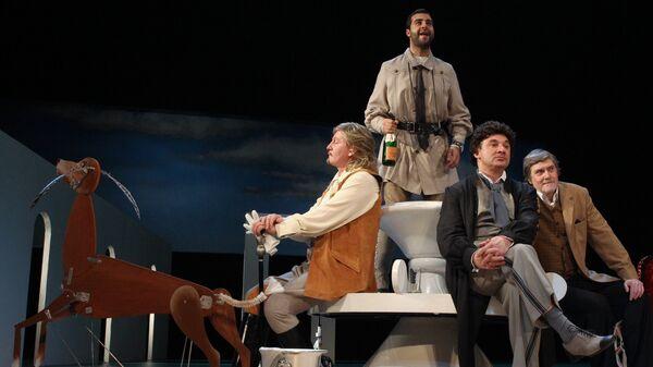 Пресс-показ спектакля Бешеные деньги в Театре имени А. Пушкина