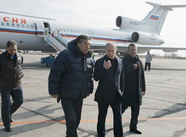 Премьер-министр РФ Владимир Путин прибыл в аэропорт Новокузнецка