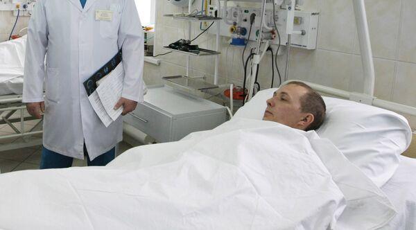 Пострадавшие в результате аварии на шахте Распадская в больнице Новокузнецка