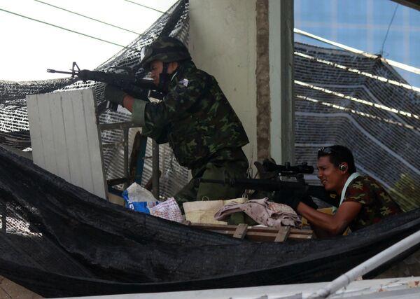 Правительственные войска в Бангкоке встретили ожесточенное сопротивление оппозиции