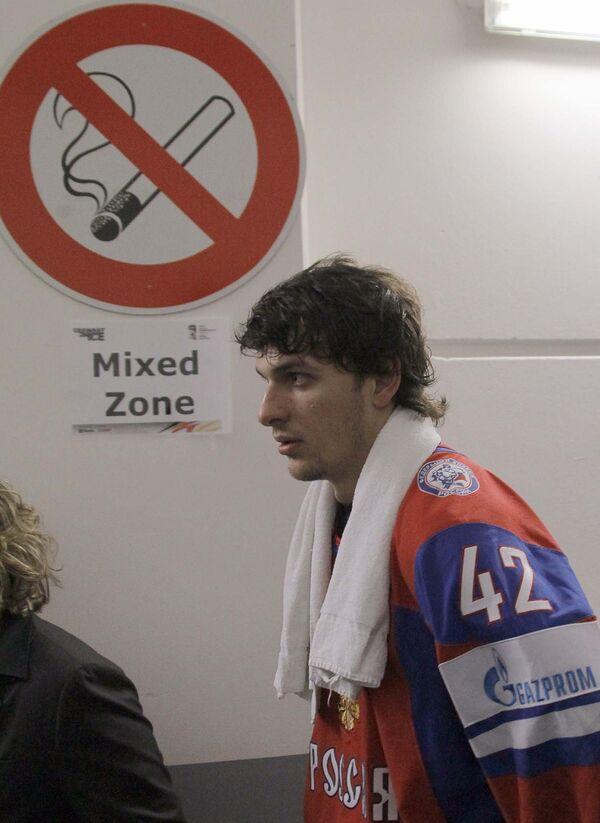Нападающий сборной РФ по хоккею Артем Анисимов