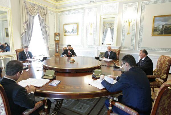 Беседа глав правительств ЕврАзЭС