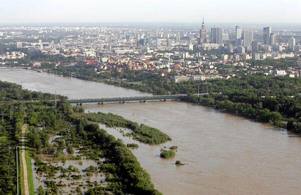 Наводнение в Польше. Варшава, 21 мая 2010 г.
