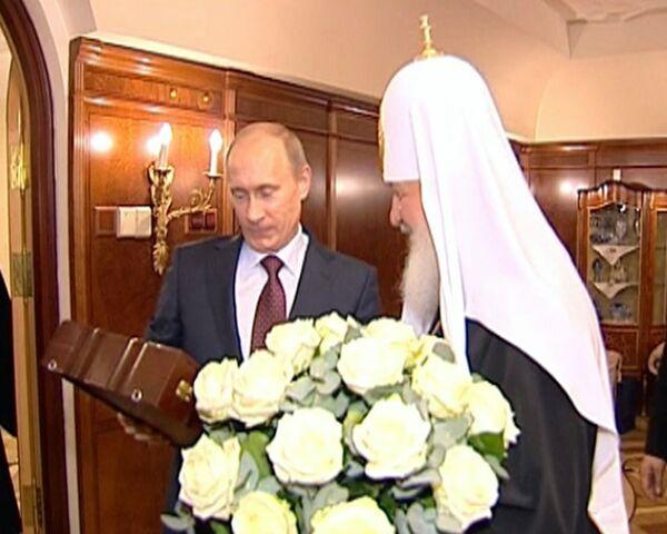 Владимир Путин поздравил патриарха с именинами