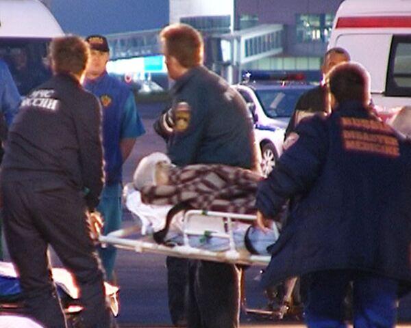 Самолет МЧС РФ доставил в Москву из Турции пострадавших в ДТП