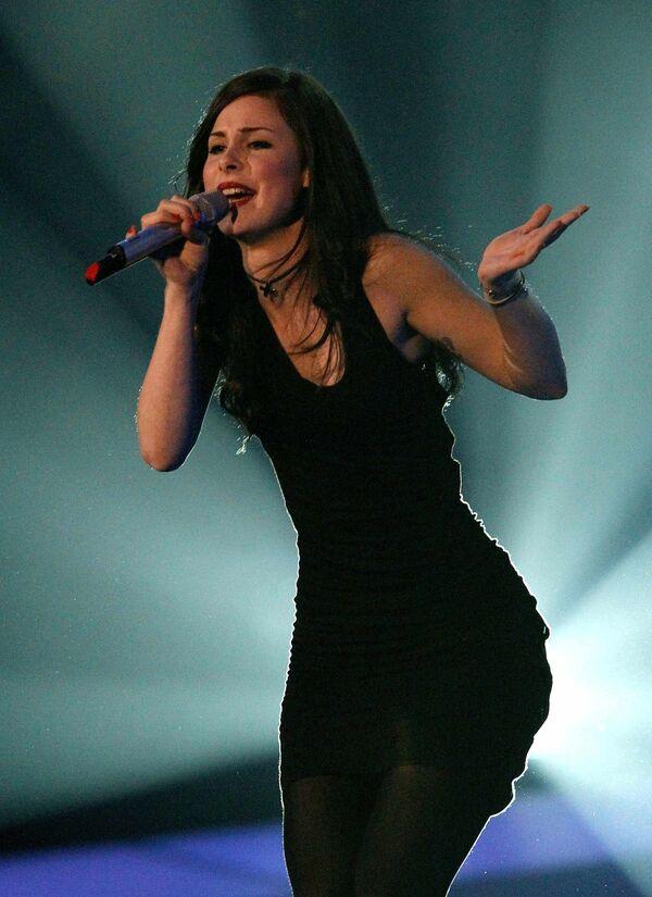 Представительница Германии на Евровидении-2010 Лена Мейер-Ландрут на репетиции