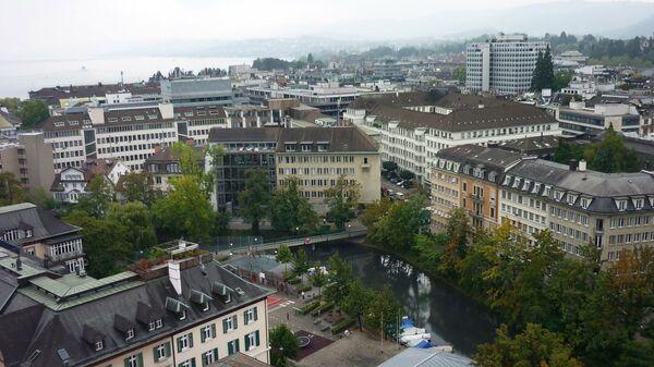Вид на швейцарский Цюрих, архивное фото