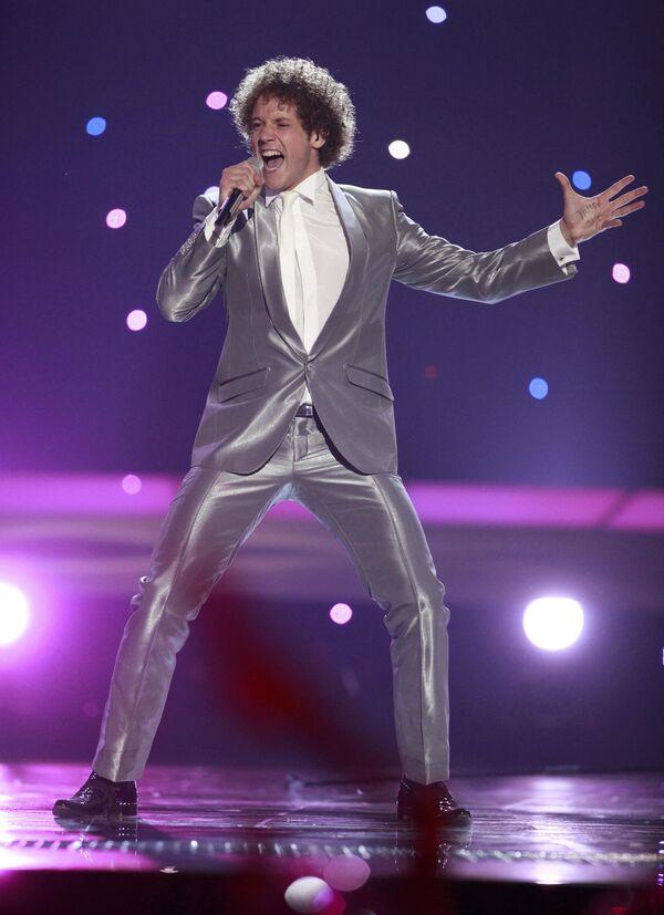 Испанский певец Даниэль Дигес на конкурсе Евровидение