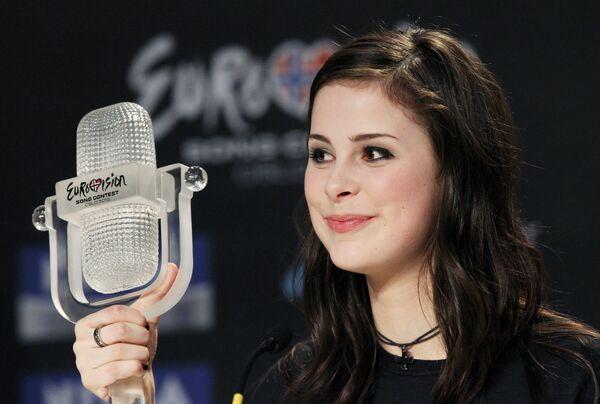 Победительница Евровидения-2010 певица Лена из Германии. Архив