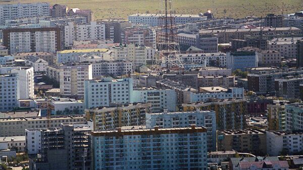 Вид на Якутск сверху
