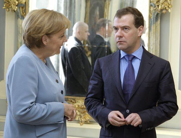 Переговоры Дмитрия Медведева с Ангелой Меркель