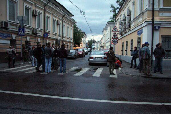 Жители столицы борются с незаконным сносом исторического квартала в центре Москвы. Архив