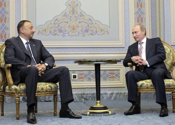 Встреча Владимира Путина и Ильхама Алиева