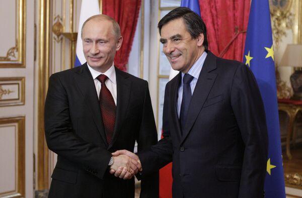 Встреча премьер-министров России и Франции. Архив