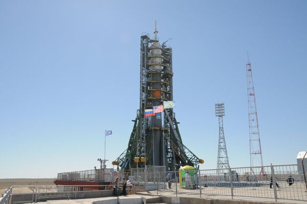 Союз-ТМА-19 на стартовой площадке