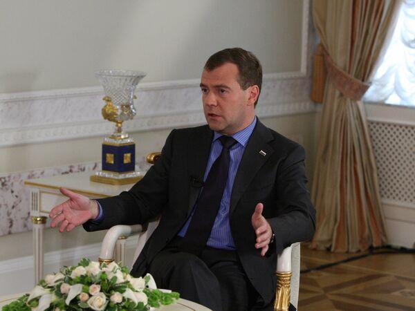 Президент РФ Д.Медведев дал интервью газете Уолл Стрит Джорнал