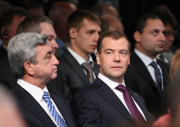 Президент РФ Д.Медведев на церемонии открытия ПЭФ 2010 г.